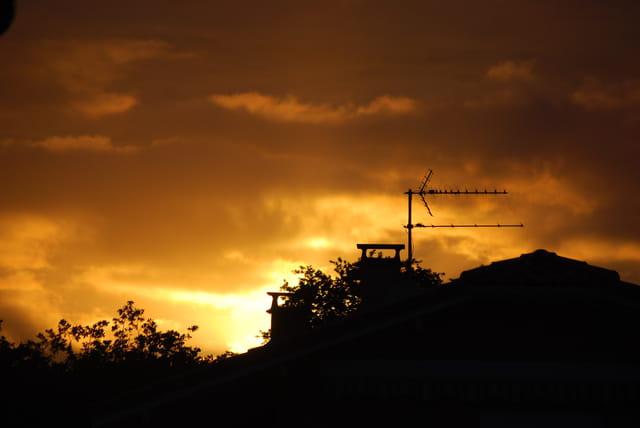 coucher de soleil sur Sanguinet