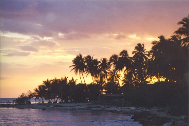 Coucher de soleil sur St Domingue