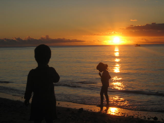 Coucher de soleil sur Tamarin