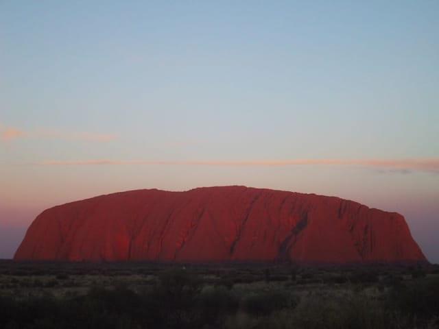 Coucher de soleil sur Uluru