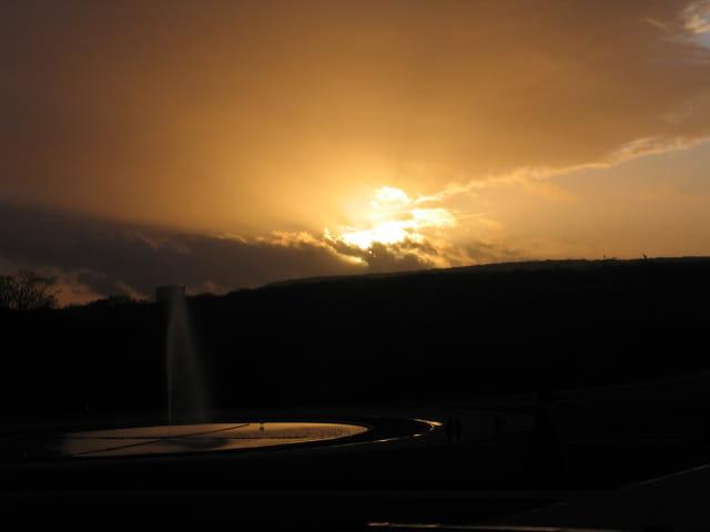 Coucher de soleil un soir d'hiver