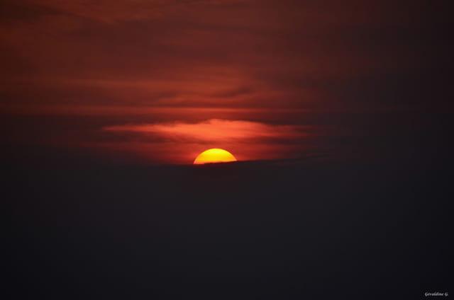 Coucher du soleil à la campagne...