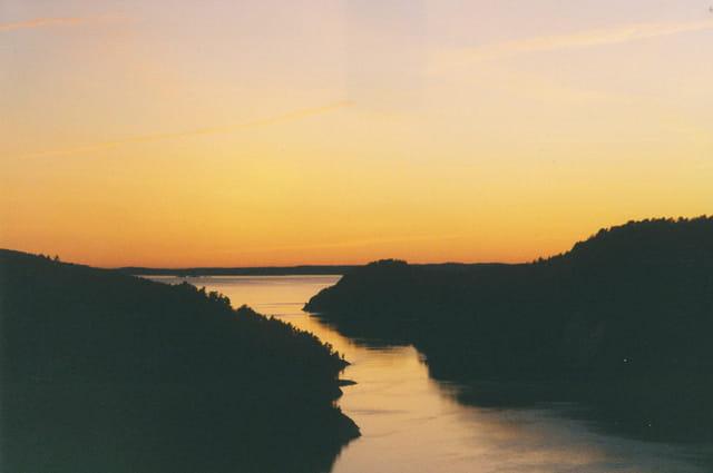 Coucher soleil Fjord