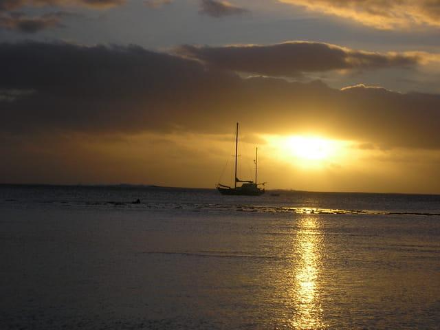 Coucher soleil sur Bora Bora