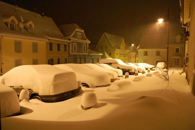 Couette de neige nuit du 4 mars