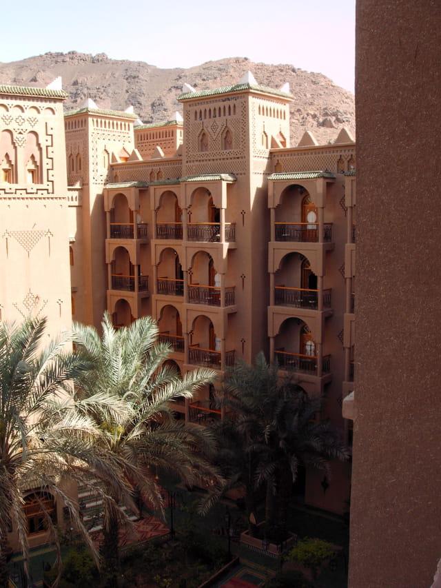 Cour intérieur de l'hôtel