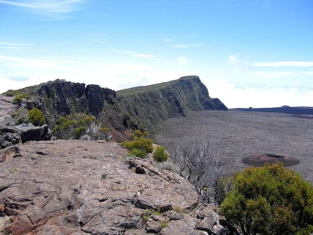 Cratère vue de la montagne