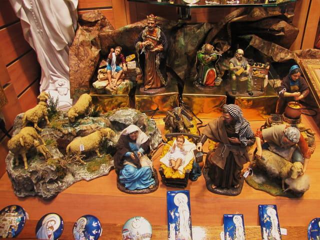 Crèche à Lourdes.