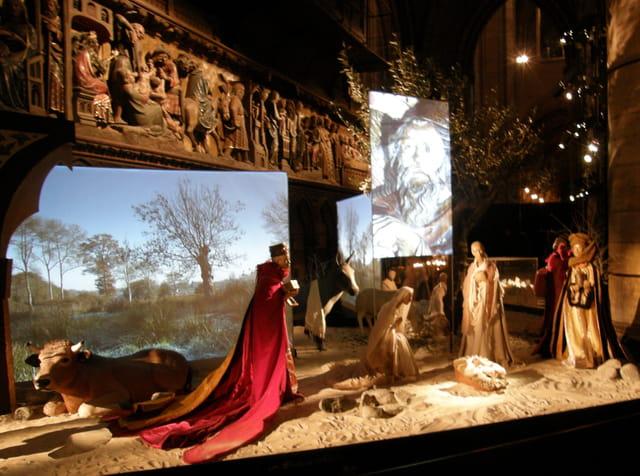 Crèche de Noël à Notre-Dame de Paris
