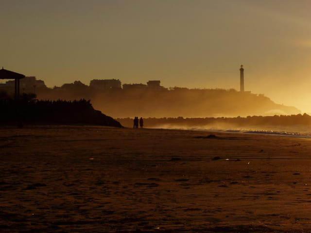 Crépuscule sur biarritz