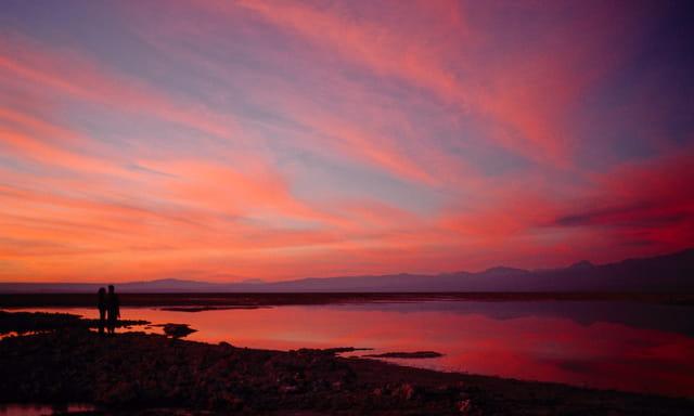 Crépuscule sur la lagune