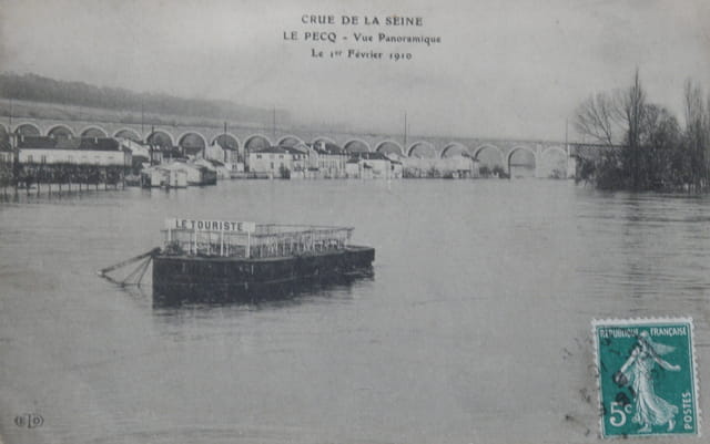 Crue de la Seine, au Pecq