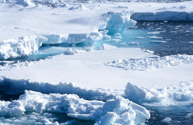 Dans la glace...