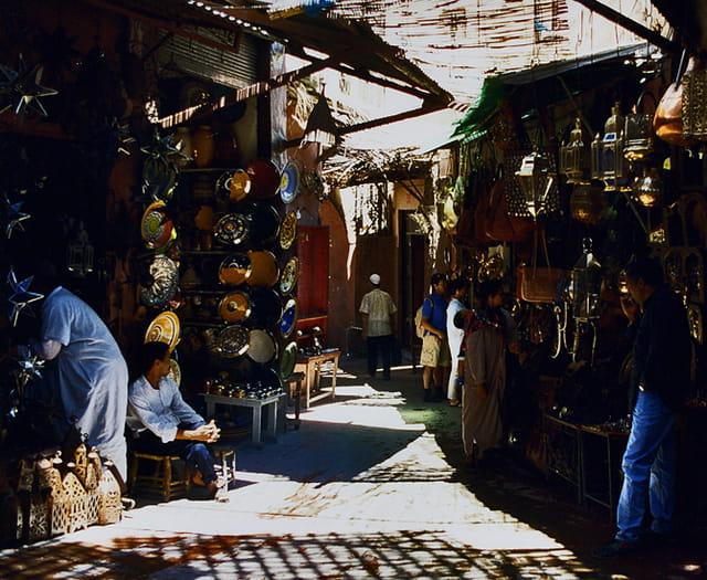 Dans les souks de Marrakech