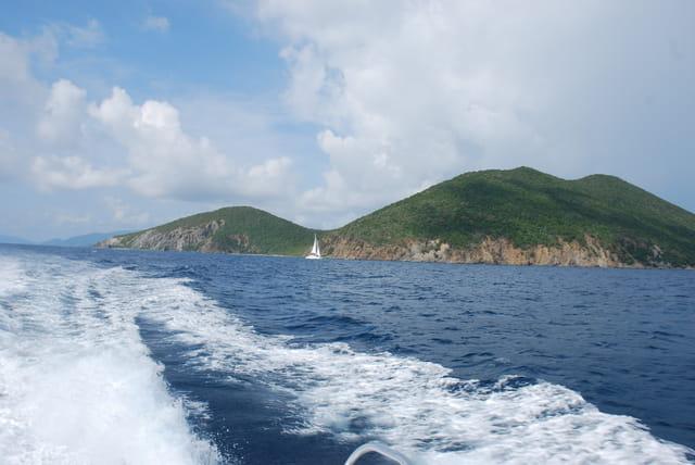 de l'île de Tortola à l'île Virgin Gorda