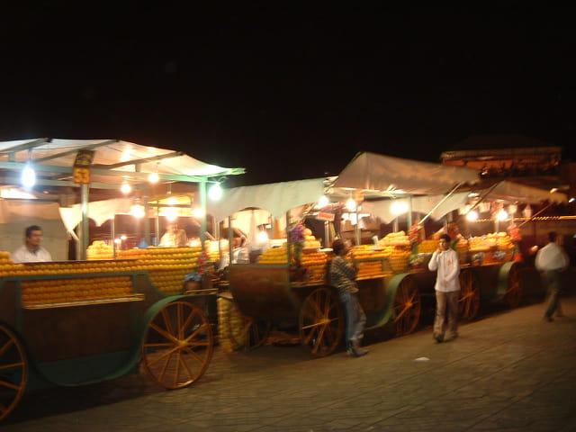De nuit la place jemaa el fna