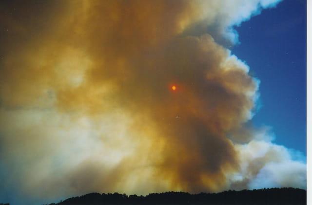 Debut de l'incendie du Var