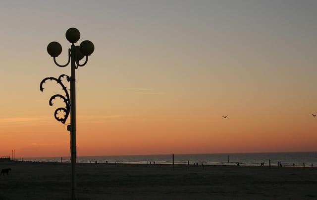 Début de soirée sur la plage