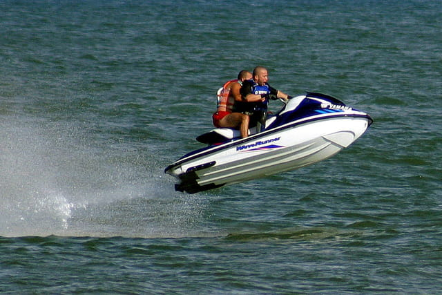 Décollage en jet ski