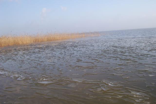 Dégel du lac de HOURTIN MEDOC