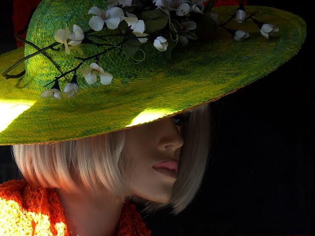 Demoiselle au chapeau vert
