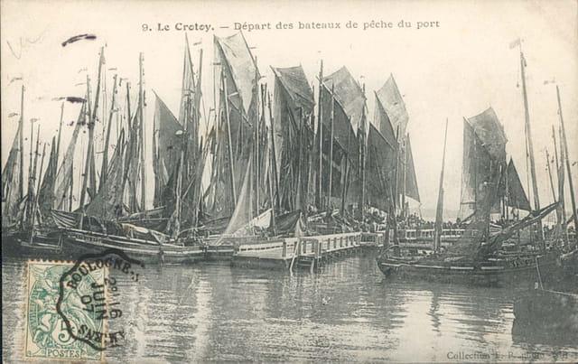 Depart des bateaux de pêche