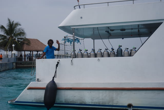 départ pour la plongée sous marine