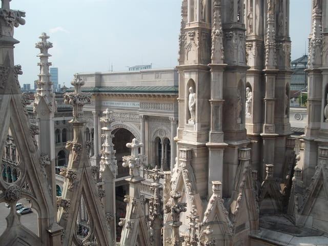 Depuis les terrasses du Duomo di Milano