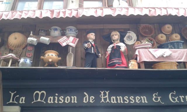 Détail d'une boutique à Strasbourg