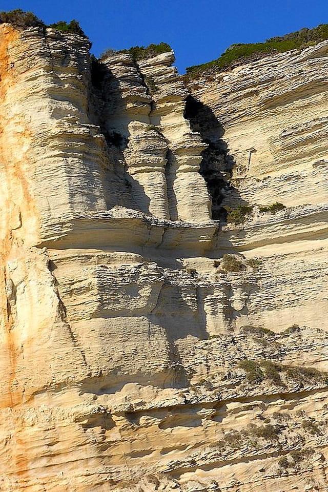 détail des falaises de Bonifacio