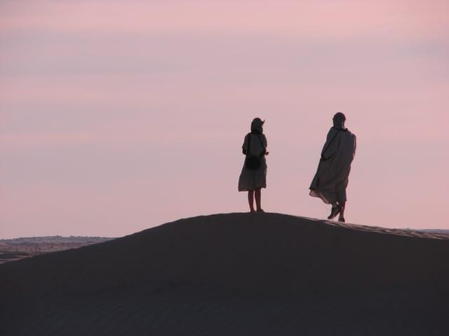 Deux ombres dans le désert