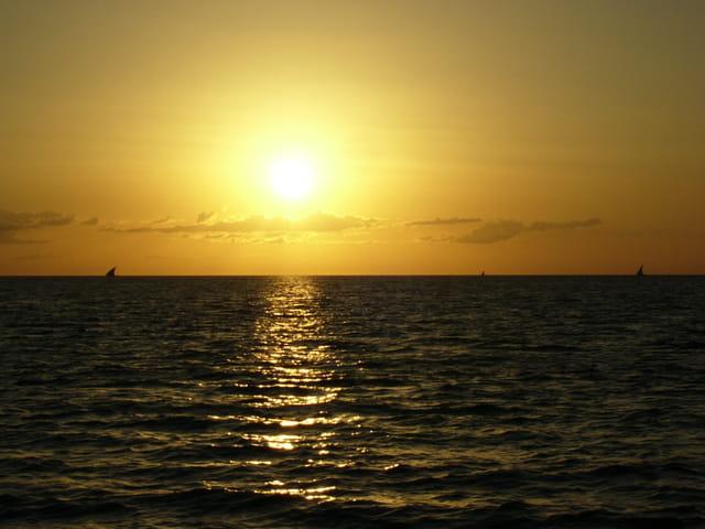 Dhow au soleil couchant