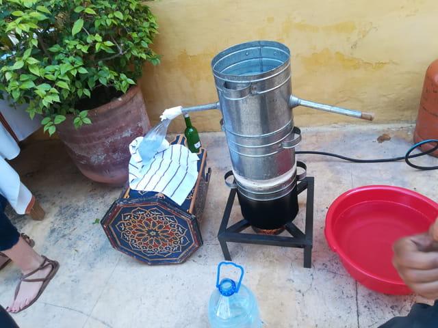 Distillation de la fleur d'oranger à Marrakech