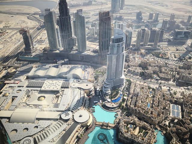 du haut de la tour la plus haute du monde