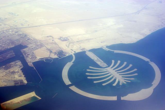 Dubaï vu d\'avion