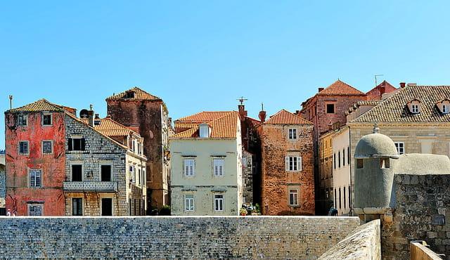 Dubrovnik, immeubles d'habitations.