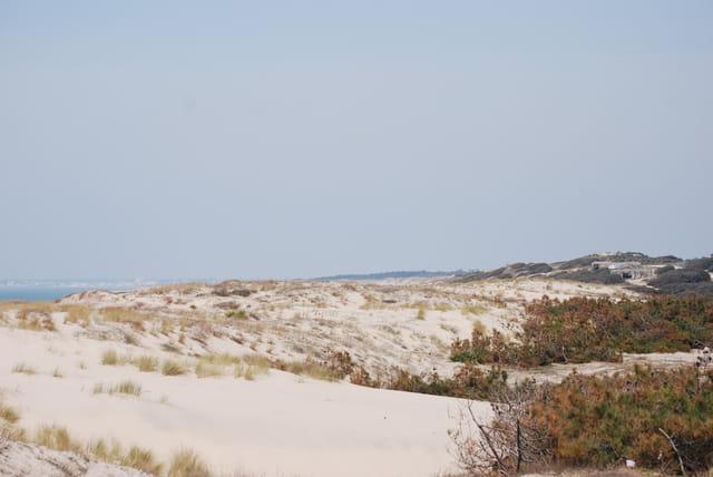 Dunes de sable et blockhaus
