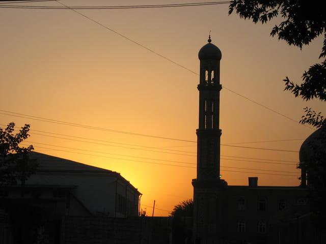 Dushambe et la mosquée