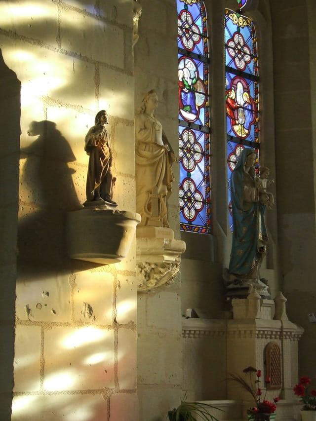 Effets de lumière dans l église