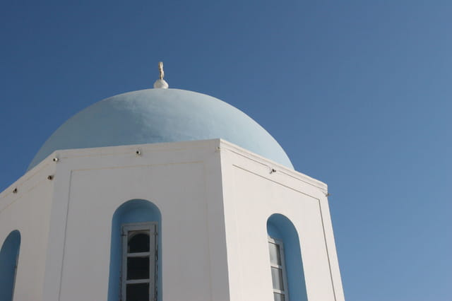 Eglise à Megalochori, Santorin