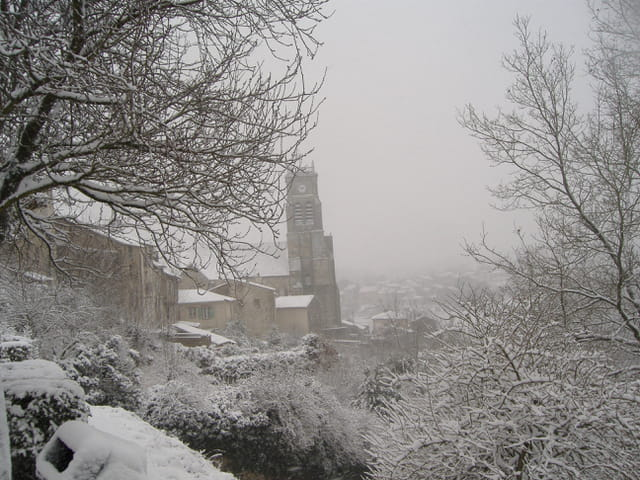 Eglise de Bellac sous la neige