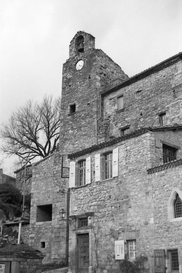 Beffroi de Bruniquel, au 1er janvier 1966