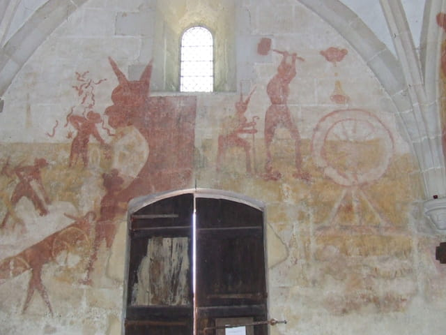�glise de Champniers , les fresques