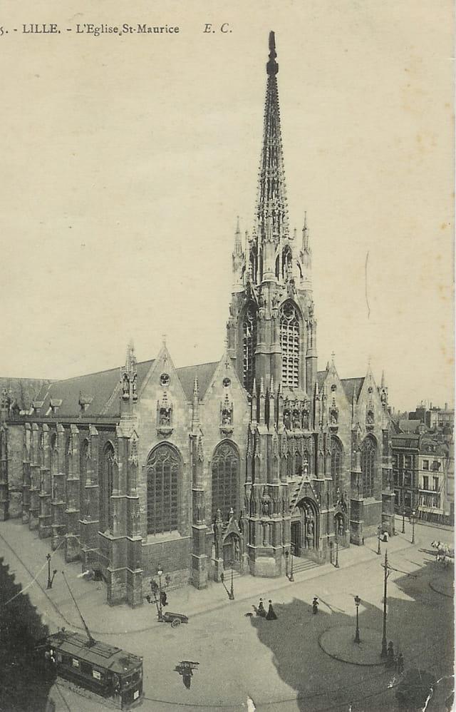 Eglise Saint-Maurice de Lille vers 1920