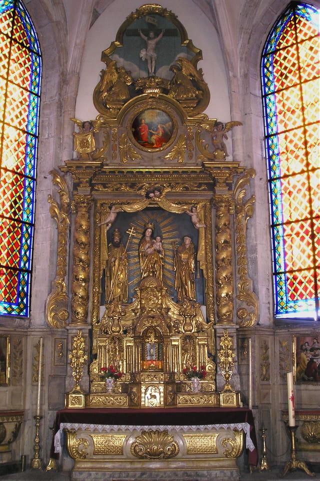 �glise Vuillafans - maître-autel et retable central