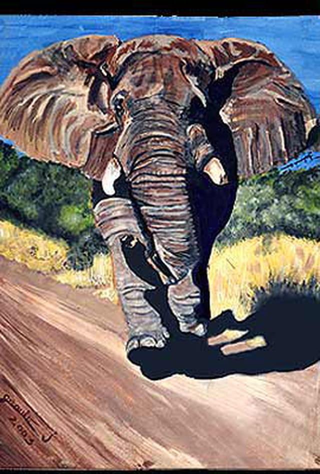 Elephant-reste de peinture