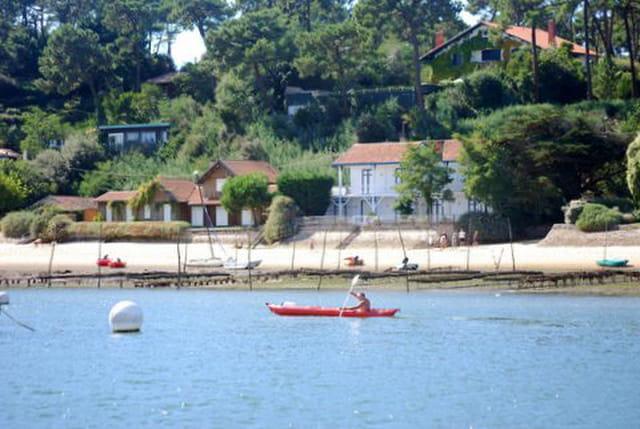 en bateau sur le Bassin d'Arcachon
