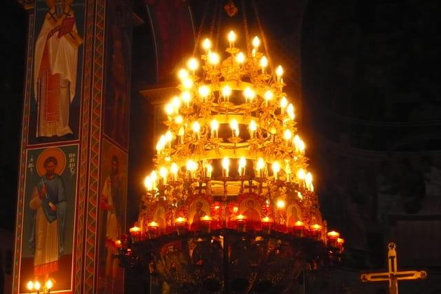 En Crète, dans une église orthodoxe