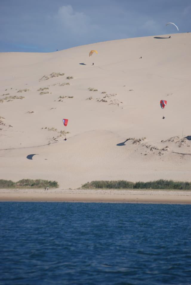 en parapente sur la dune du pyla