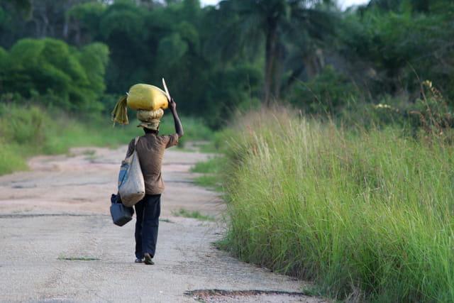 En route vers le village